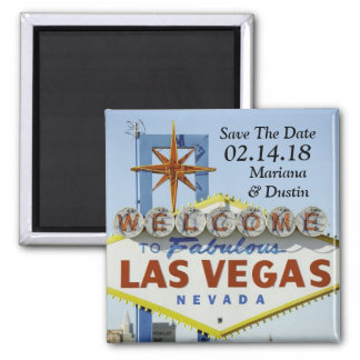 Wedding In Las Vegas Save The Date Magnet
