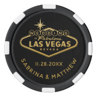 Wedding in Las Vegas Sign Casino Favor Poker Chips