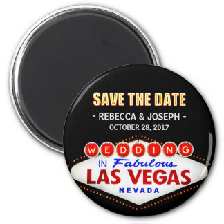Wedding in Las Vegas Sign - Neon Save the Date Magnet