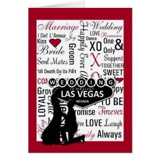 Wedding in Las Vegas Silhouette Couple Card