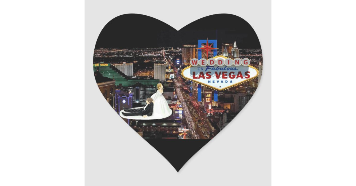 Wedding in las vegas sticker zazzle for Arts and crafts stores in las vegas