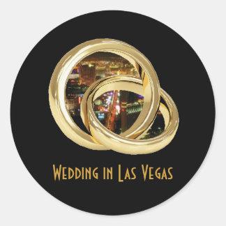 Wedding in Las Vegas Wedding BandsSticker Sticker
