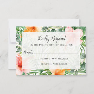 Wedding in Paradise Tropical RSVP