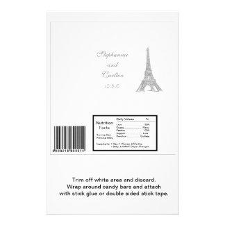Wedding in Paris Hershey's Large Bar Wrapper Flyer