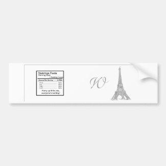 Wedding in Paris Water Bottle Label