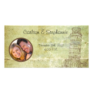 Wedding in Pisa Photo Announcement Customized Photo Card
