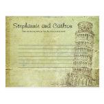 Wedding in Pisa Writable Advice Card Post Cards