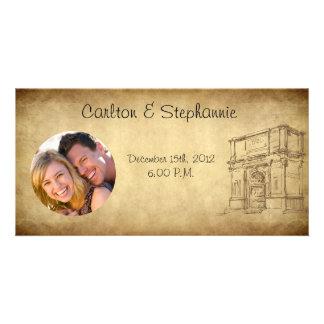 Wedding in Rome Photo Announcement Custom Photo Card