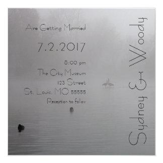 Wedding in the fog card