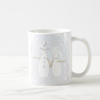 Wedding in the Snow Bride and Groom Classic White Coffee Mug