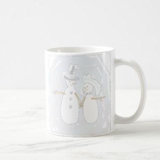 Wedding in the Snow Bride and Groom Coffee Mug