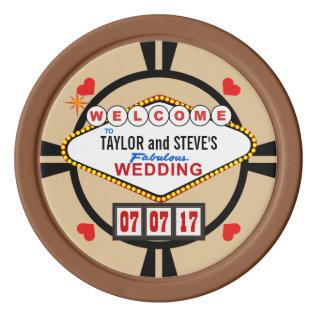 Wedding In Vegas Casino Favor Poker Chips at Zazzle