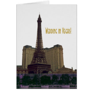 Wedding in Vegas! Eiffel Tower Announcement Card