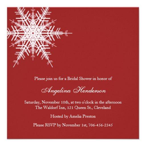 Wedding in Winter Bridal Shower Invitation