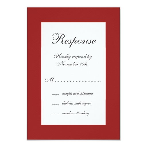 Wedding in Winter RSVP 3.5x5 Paper Invitation Card