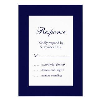 Wedding in Winter RSVP (blue)