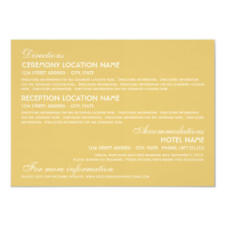 Wedding Information Card | Art Deco Elegant Style