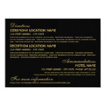 Wedding Information Card | Art Deco Elegant Style Personalized Announcements