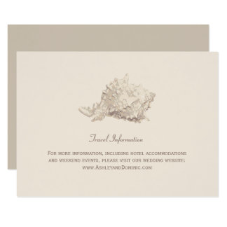 Wedding Information Card | Ivory Seashell
