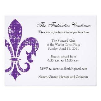 Wedding Information Card | New Orleans | Purple