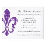 "Wedding Information Card | New Orleans | Purple 4.25"" X 5.5"" Invitation Card"