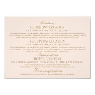 Wedding Information Cards | Antique Gold