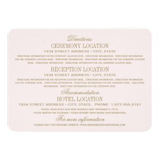 Wedding Information Cards | Antique Gold Custom Invites