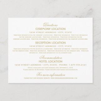 Wedding Information Cards | Gold Vintage Glamour