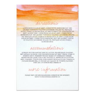 Wedding information cards - romantic watercolor