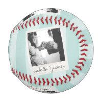 Wedding Instagram Photo Retro frame Custom Text Baseball