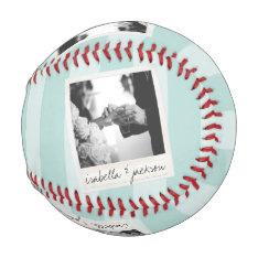 Wedding Instagram Photo Retro Frame Custom Text Baseball at Zazzle