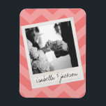 "Wedding Instagram Photo Retro frame Custom Text Magnet<br><div class=""desc"">A perfect gift for the bride and groom or for an anniversary gift. Add 1 picture to this hipster frame and custom names and dates to make a perfect memento.</div>"