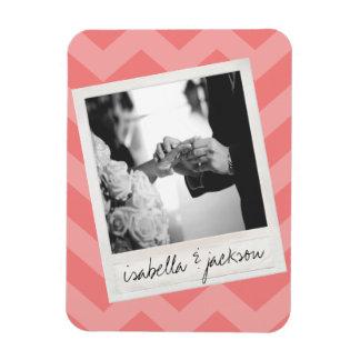 Wedding Instagram Photo Retro frame Custom Text Magnet