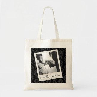 Wedding Instagram Photo Retro frame Custom Text Tote Bag