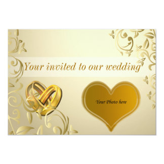 "Wedding invitation 5"" x 7"" invitation card"