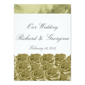 "Wedding Invitation 6.5"" X 8.75"" Invitation Card"