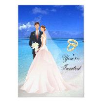 wedding, party, bride, groom, fun, invitations, Invitation with custom graphic design