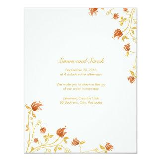 Wedding invitation 11 cm x 14 cm invitation card