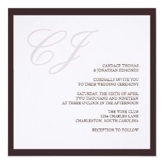 Wedding Invitation | 2 Letters |lv