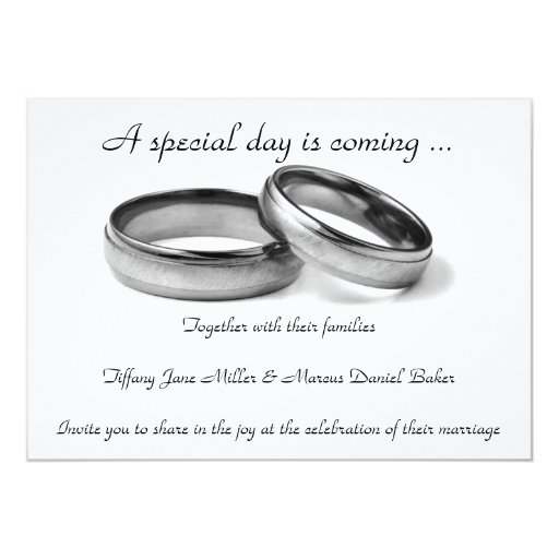 Wedding Invitation And Black Amp White Wedding Rings