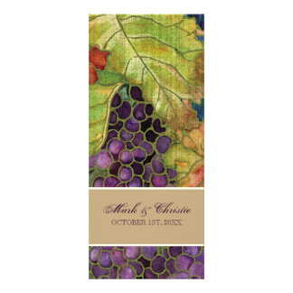 Wedding Invitation Autumn Grape Leaf