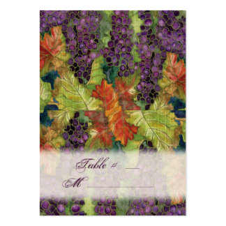 Wedding Invitation Autumn Grape Leaf Large Business Cards (Pack Of 100)