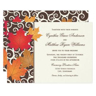 Wedding Invitation | Autumn Leaves