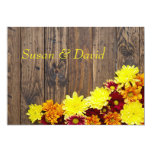 Wedding Invitation--Autumn Wedding Card