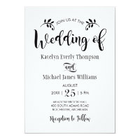 Wedding Invitation | Black Script