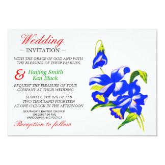 Wedding Invitation Blue Orchid Wedding Flowers