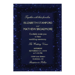 Wedding Invitation | Blue Starry Night