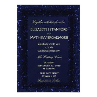 Wedding Invitation   Blue Starry Night