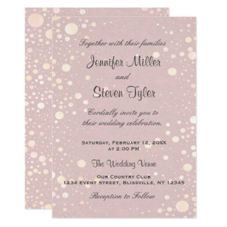 Wedding Invitation    Blush Bubbles