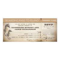 wedding invitation boarding pass tickets